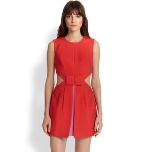 BCBGMaxazria Kathryne Side-Cutout Bow-Front Dress